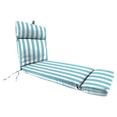Jordan French Edge Chaise Lounge Cushion - Cabana Stripe Turquoise