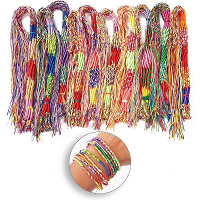 Bright Creations 100-Pack Colorful Handmade Braid Friendship Bracelets, One Size for Arts and Crafts Kids Crafts