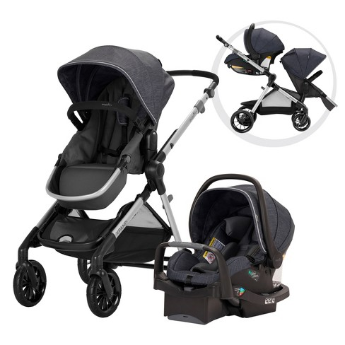 Evenflo Pivot Xpand Modular Travel System With Safemax Infant Car Seat
