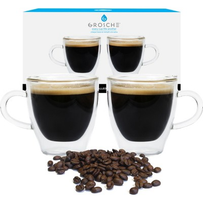 GROSCHE TURINO Doubled Walled Glass Espresso Cups