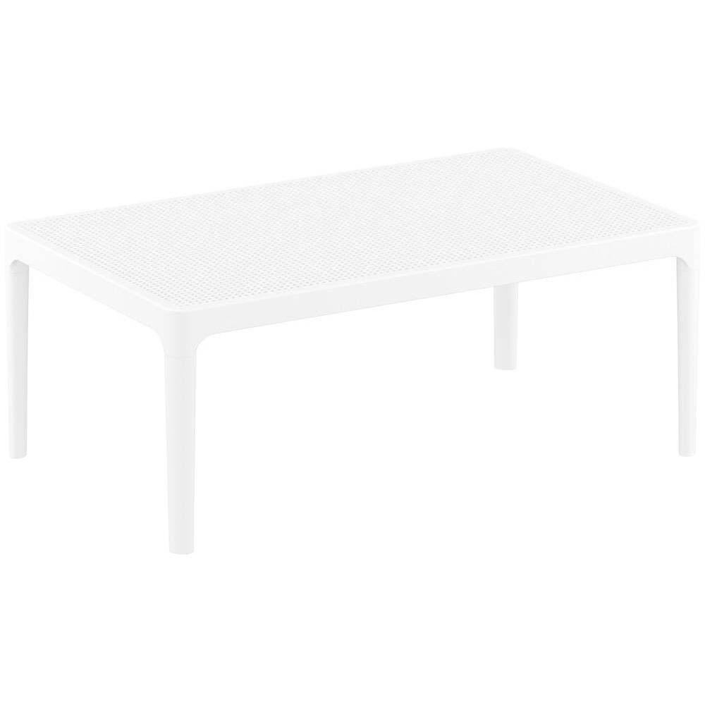 "Image of ""39.3"""" x 23.7"""" Sky Lounge Patio Side Table - White - Resol"""