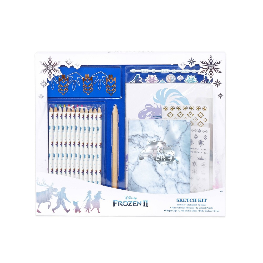 Image of Frozen 2 Elevated Stationery Art Sketch Kit