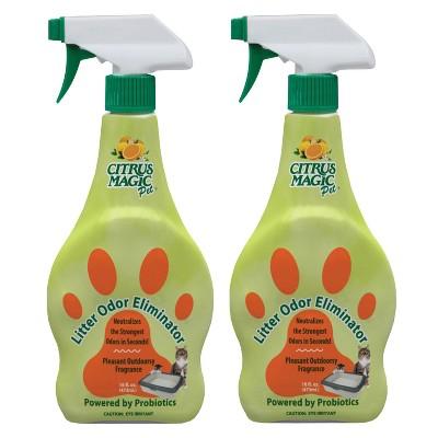 Citrus Magic Cat Litter Probiotic Spray Cat Litter - 2ct