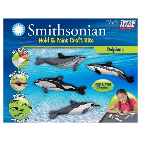 Smithsonian Mold & Paint Craft Kit - Dolphins - image 1 of 1