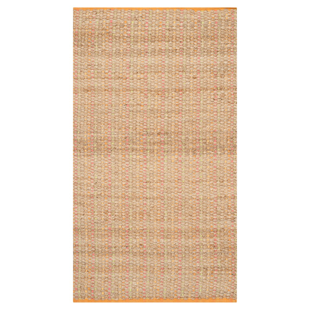 Image of Southampton Natural Fiber Accent Rug - Spring (3'x5') - Safavieh, Size: 3'x5', Natural/Red/Orange/Beige