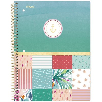 Spiral Notebook 1 Subject College Ruled Sail Away Colorblock - Mead