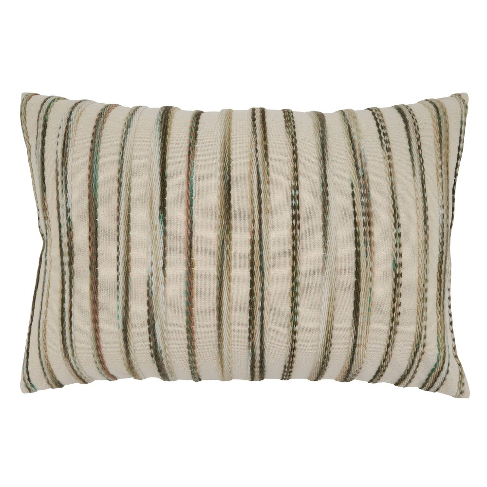 16 34 X24 34 Stripe Weave Poly Filled Throw Pillow Saro Lifestyle