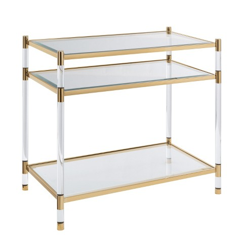Ceili Acrylic Accent Table - Aiden Lane - image 1 of 4