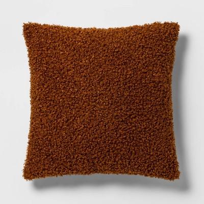 Euro Boucle Decorative Throw Pillow Caramel - Threshold™