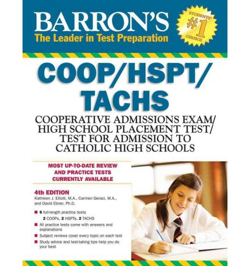 Barron's COOP/HSPT/TACHS : Cooperative Admissions Exam / High School Placement Test / Test for Admission - image 1 of 1