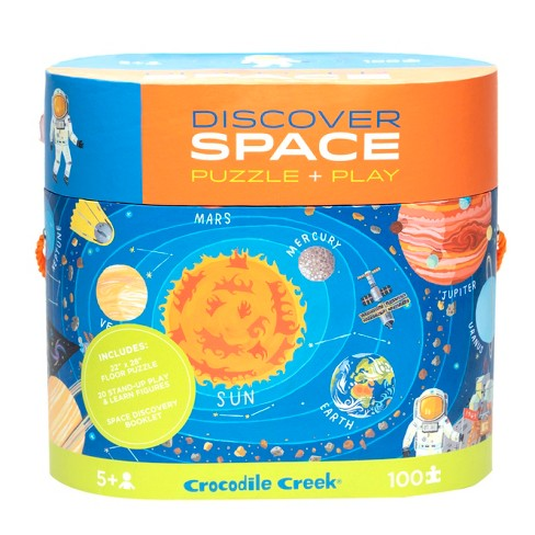 Crocodile Creek Discover: Giant Space Map Puzzle 100pc - image 1 of 4