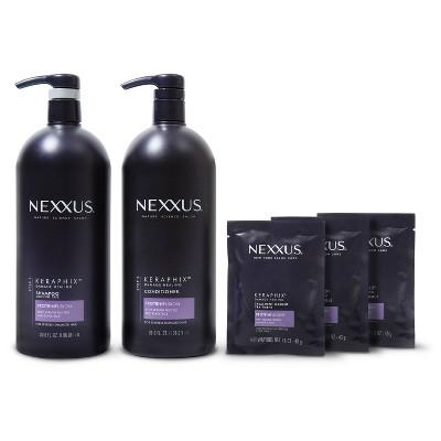 Nexxus Keraphix Damage Healing Shampoo + Conditioner + 3 Masque - 3 ct/33.8 fl oz