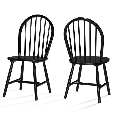 Set of 2 Declan Farmhouse High Back Dining Chair Black - Christopher Knight Home