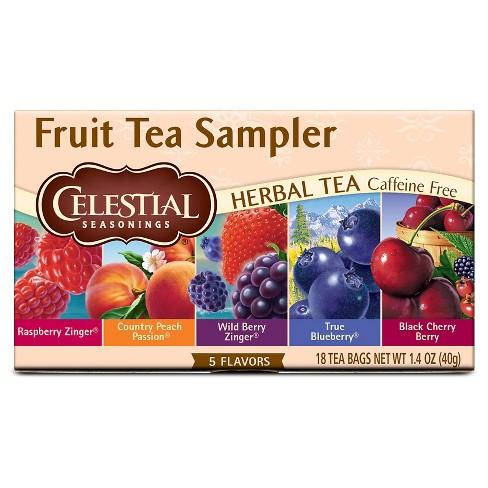Celestial Seasonings Fruit Tea Sampler Herbal Tea - 18ct - image 1 of 3
