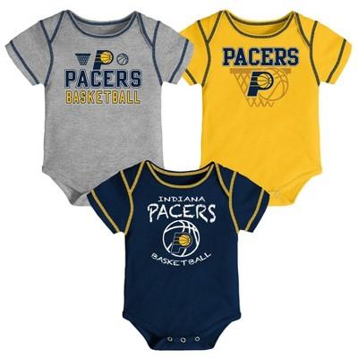 NBA Indiana Pacers Baby Boys' Onesies Bodysuit 3pk