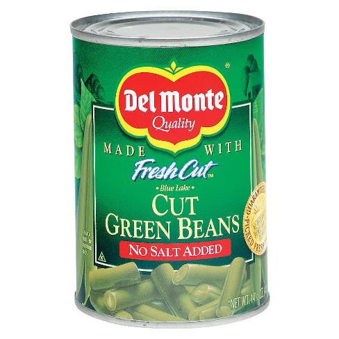 Del Monte No Salt Added Fresh Cut Green Beans 14.5 oz - image 1 of 1