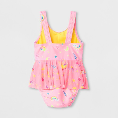 650031603a Baby Girls  Galaxy One Piece Swimsuit - Cat   Jack™ Pink   Target