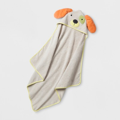 Baby Puppy Hooded Towel - Cloud Island™ Beige One Size