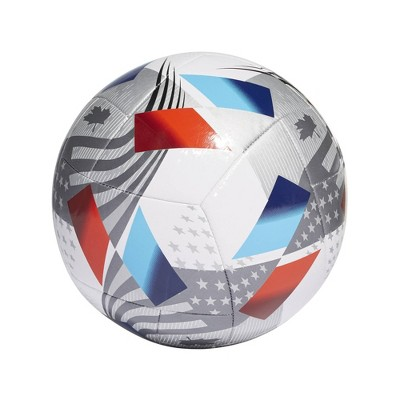 Adidas MLS Size 5 Club Sports Ball - White/Silver