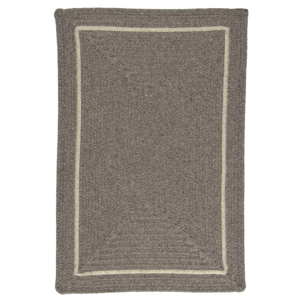 Shear Natural Braided Accent Rug - Rockport Gray - (2'x3') - Colonial Mills