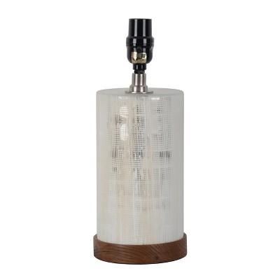 Small Light Mercury Cut Glass Wood Table Lamp Base Silver - Threshold™