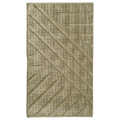 Geo Stripe Bath Mat (20 X34 )Khaki Tan - Project 62™ + Nate Berkus™