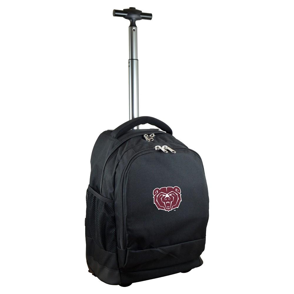 NCAA Missouri State Bears Black Premium Wheeled Backpack