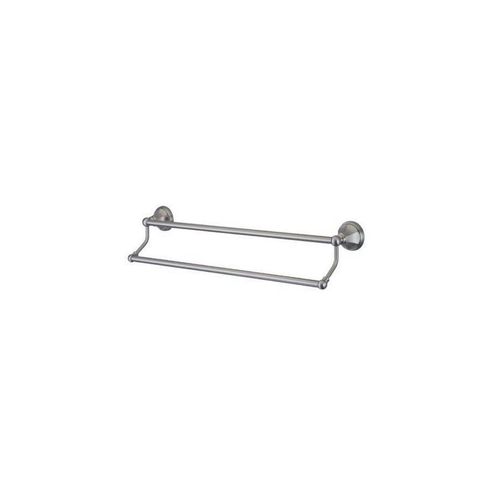 Image of 24 Dual Towel Bar Satin Nickel - Kingston Brass, Light Silver