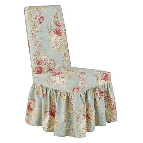 Peachy Ballad Bouquet Dining Room Chair Robins Egg Blue Waverly Inzonedesignstudio Interior Chair Design Inzonedesignstudiocom