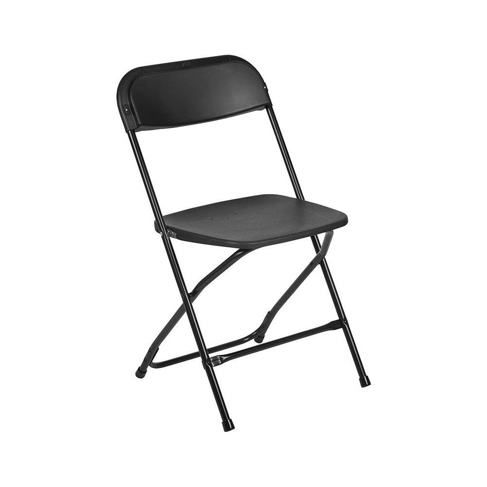 Riverstone Furniture Collection Plastic Folding Chair Black