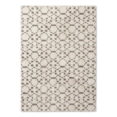 Cream Abstract Woven Area Rug - (5'X7')- Nate Berkus™