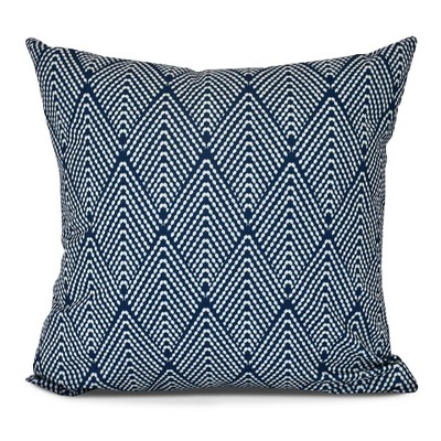 Navy/White Lifeflor Print Pillow Navy Throw Pillow (16 x16 )- E by Design