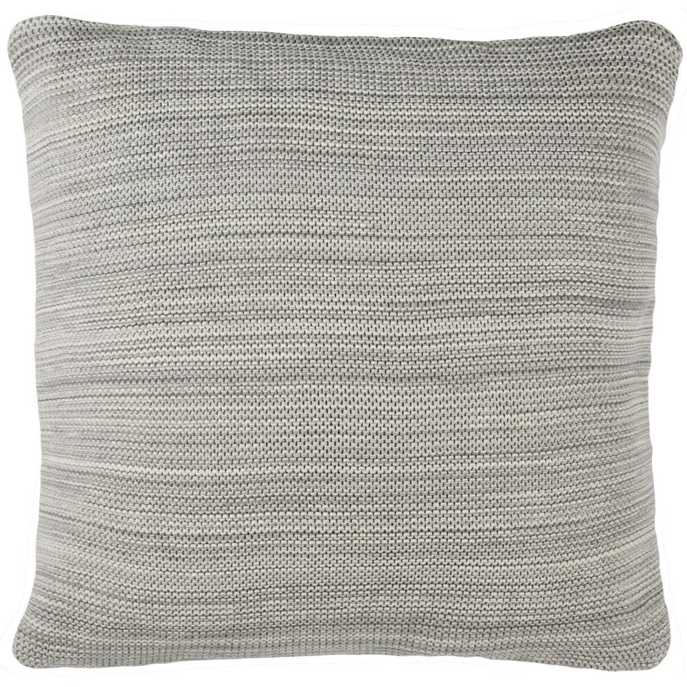 Loveable Knit Square Throw Pillow Light Gray - Safavieh