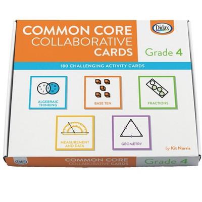 Didax Common Core Collaborative Cards, Grade 4
