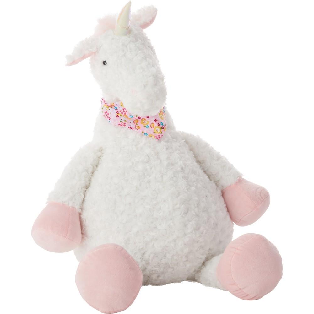 Image of Oversized Unicorn Plush Throw Pillow - Mina Victory