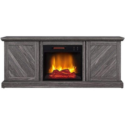 HearthPro Walden Electric Fireplace TV Stand in Weathered Gray - SP6553-OF