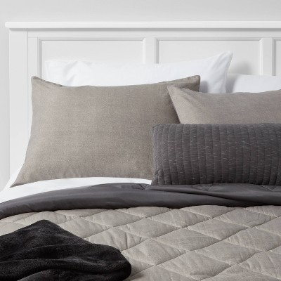 Gray Solid Microfiber Full/Queen Bed Set - Room Essentials™