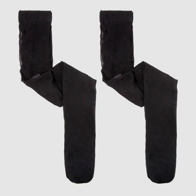 Girls' Pantyhose 2pk - Cat & Jack™ Black