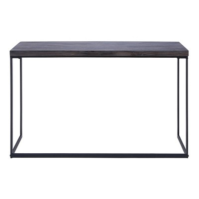 Contemporary Metal Console Table Brown - Olivia & May