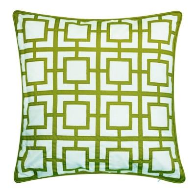 "20"" x 20"" Modern Links Applique Decorative Patio Throw Pillow - Edie@Home"