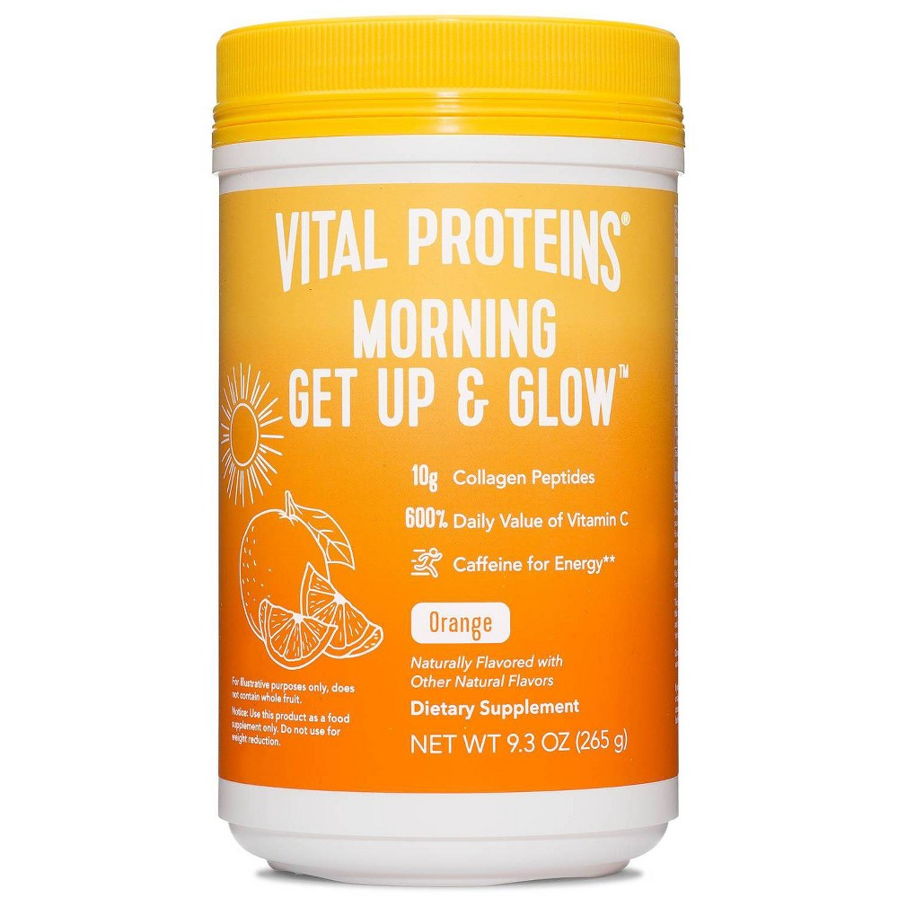 Vital Proteins Morning Get Up And Glow Orange Canister 9 3oz