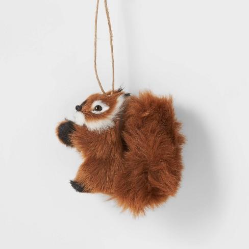 Faux Fur Woodland Creatures Christmas Tree Ornament Squirrel Wondershop Target