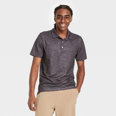 Men's Short Sleeve Performance Polo Shirt - Goodfellow & Co™ Gray/Colorblock M