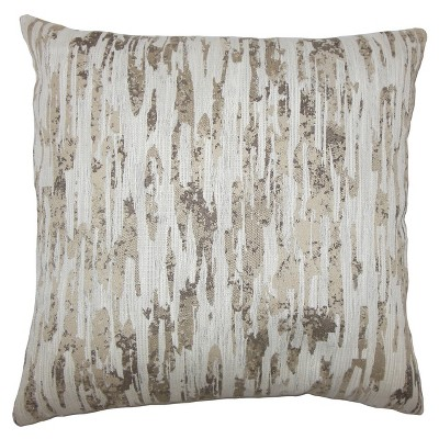 Light Gray Square Throw Pillow (18 x18 )- The Pillow Collection