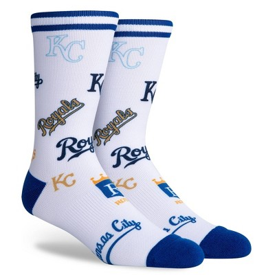 MLB Kansas City Royals Mixed Up Crew Socks - L