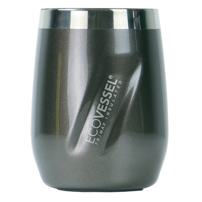 EcoVessel PORT 10oz TriMax Insulated Stainless Steel Wine Tumbler - Gray Smoke