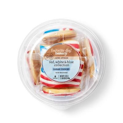 Patriotic Sugar Cookie Tub - 8ct - Favorite Day™