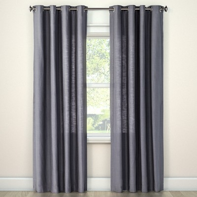 Natural Solid Curtain Panel Radiant Gray (54 x95 )- Threshold™