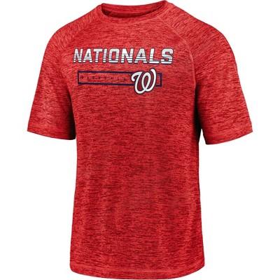 MLB Washington Nationals Men's Short Sleeve Striated Athleisure T-Shirt