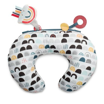 Boppy Tummy Time Prop Pillow - Black White Rainbow